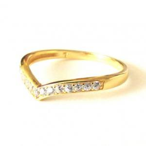 14 Kt Gold Over Sterling Silver Rin..