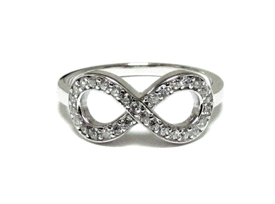 ring sterling p infinity silver