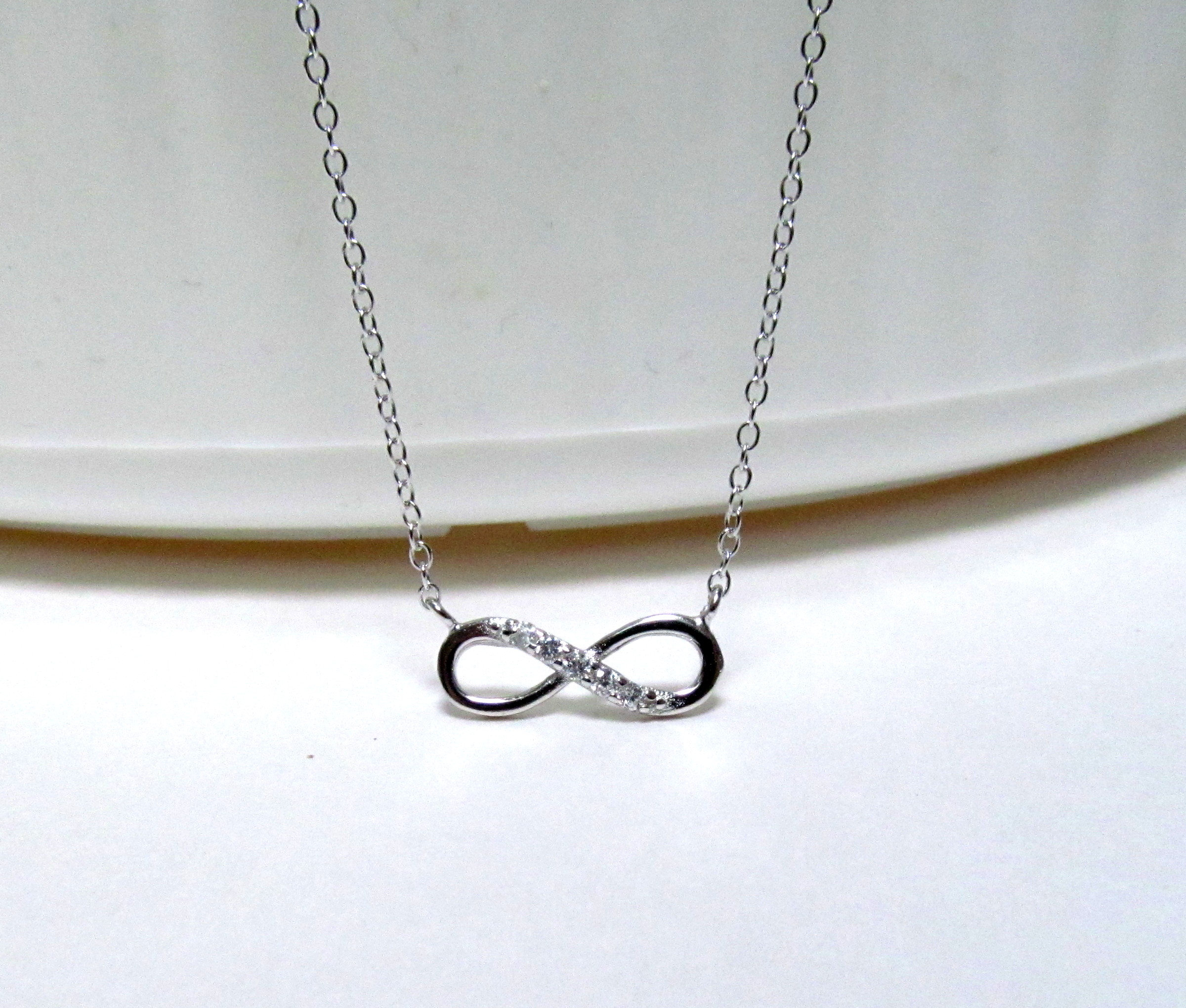 i silver watches h overstock symbol free white tdw today infinity necklace jewelry product sterling shipping